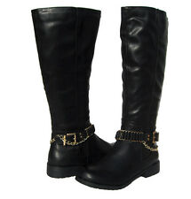 New Women's Winter Knee High Black Fashion Boots Lug Sole snow Ladies size 8