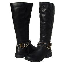 New Women's Winter Knee High Black Fashion Boots Lug Sole snow Ladies size 8