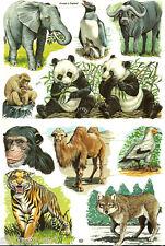 Vintage Victorian Wild Animals ZOO Die Cut Sheet Paper Scraps Uncut  MLP 1573