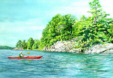 Crossing to Lost Lake Voyageurs National Park Reproduction by WandasWatercolors