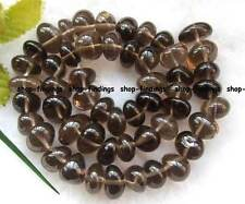 "smooth 9x12mm new smoky quartz freeform gemstone beads 16"" high quality"