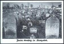 CPA Poland Białystok 1991 Jewish cemetery in Bialystok Judaica Jews M1