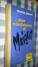 GEORGES .SIMENON-TELATO- ROMANZI  # 167 -UNA CONFIDENZA DI  MAIGRET   - 1961