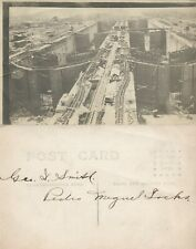PANAMA CANAL CONSTRUCTION ANTIQUE REAL PHOTO POSTCARD RPPC