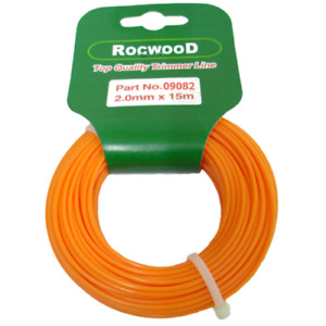 Nylon Strimmer Line, Cord 2mm x 15 M Metres Fits Flymo And Bosch. Orange