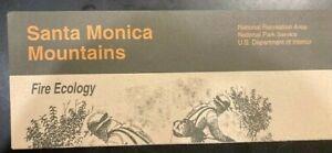 Santa Monica Mountains Fire Ecology - Official National Park NPS Brochure - 1994