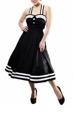 Collectif Sindy Doll Dress Sailor Black Rockabilly 1950s 50s Vintage