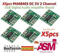 5pcs PAM8403 Audio Module Class-D Digital Amplifier Board 2.5 to 5V USB Power