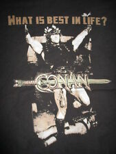 "CONAN The Barbarian ARNOLD SCHWARZENEGGER ""What is Best in Life?"" (XL) T-Shirt"