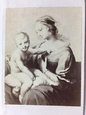 Victorian CDV Carte De Visite Photo: Artwork/Engraving #167: Raphael Holy Family