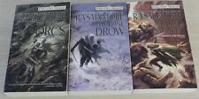 R.A. Salvatore Hunter's Blades Trilogy Books Book Set Paperback Legend of Drizzt