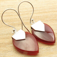 A Jewelry That Always Looks As Good As You Do ! Silver Plated CARNELIAN Earrings