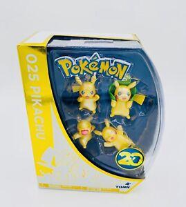 NEW Pokemon 20th Anniversary 025 Pikachu 4 Figure Set TOMY