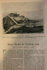 1902 Explorer Sven Hedin in Central Asia illustrated