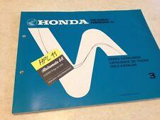 Honda NE50 NB50 Aéro MF MFG scooter parts list liste catalogue pièce détachée