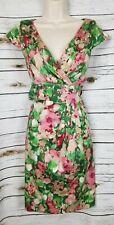 Talbots Watercolor Floral Dress Tie Back Church Garden Party 12 Petite