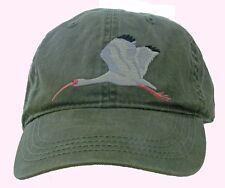 White Ibis Embroidered Cotton Cap NEW Bird