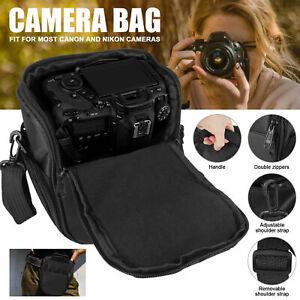 Digital Camera Shoulder Bag Corssbody Sling Waist Case for DSLR SLR Canon Nikon