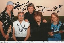Deep Purple Autogramme signed 20x30 cm Bild