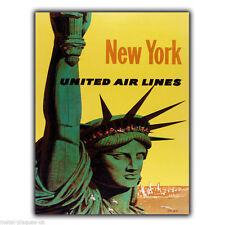 PLACCA di Metallo Segno MURO NEW YORK LIBERTY Retrò Vintage annuncio pubblicitario poster stampati