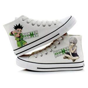 Anime HUNTER X HUNTER Killua Zoldyck Cosplay Sneakers Casual Canvas Shoes Unisex