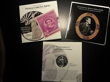 1996 $1 National Community Service Proof Commemorative Silver Coin and Stamp Set
