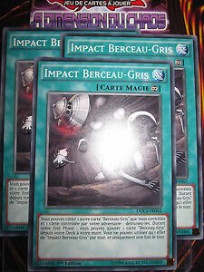 YU-GI-OH! COM LOT IMPACT BERCEAU-GRIS X3 (PLAYSET) DOCS-FR062 MINT FR NEUF