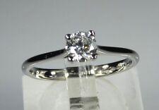 IGI CERTIFIED Platinum 0.42ct SI2 - D Diamond Engagement Ring rrp £3000
