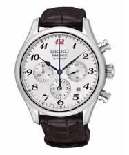 Reloj hombre Seiko Presage Srq025j1est de cuero cocodrilo Marr¥n