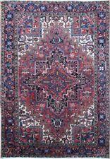 "Authentic Wool Rnr-9107 6' 6"" x 9' 3"" Persian Heriz Rug"
