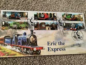 BRADBURY RAILWAY FIRST DAY COVER POSTMARK THOMAS THE TANK ENGINE ERIC EXPRESS