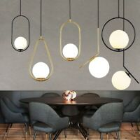 Bar Pendant Light Glass Lamp Room Ceiling Lights Home Black Chandelier Lighting