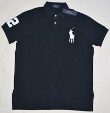 New Large L POLO RALPH LAUREN Mens Big Pony Shirt black Polo top Classic fit NWT