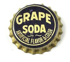 VINTAGE Grape Soda Tapa de botella EE.UU. botella Gorra SELLO DE CORCHO