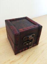 Mini Wooden Storage Box Jewellery Cufflinks Ring Trinket Gift Case Vintage