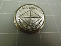 "Vintage Silver Tone Metal U.S. ARMY FINANCE CORPS Lapel Pin 1 5/8"""