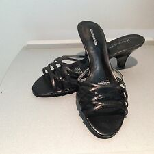 Naturalizer Hitched Black Patent Leather Heel 10 M New Slip On Strappy Shoe