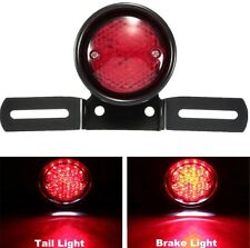 CAFE RACER UNIVERSAL MOTORBIKE REAR LICENSE PLATE HOLDER & SPOT BRAKE TAIL LIGHT