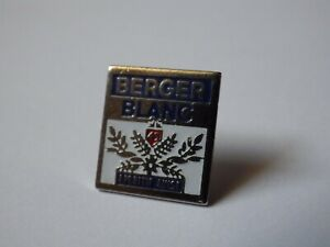 Anstecknadel Vintage Anstecker Sammler Werbung Berger Weiß Paket F103