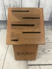 New listing Beautiful Cutco Gourmet Wood Knife Cutlery Storage Block 5 Slot Honey Oak ~ Usa