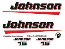 Adesivi motore marino fuoribordo Johnson 15 hp 2t brp 4 tempi