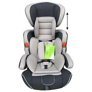 Seggiolino auto universale 9-36 kg per bambini grigio e nero