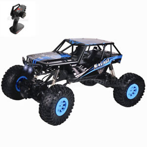 2.4G RC Car 1/10 Remote Control 4WD Off Road Monster Truck Rock Crawler 2battery