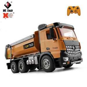 Wltoys 14600 2.4Ghz 1/14 RC Dump Truck RC Construction Toy with LED Lights and S