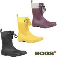 Bogs Wellingtons Lace 2eye Womens Rubber Soft Calf Flora Lightweight Summer Boot