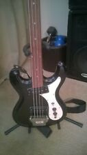 VINTAGE Univox 70's Hi-Flyer 4 String Electric Bass Black and White freetless