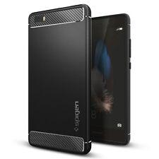 Huawei P8 Lite Case, Spigen [Rugged Armor] Resilient [Black]