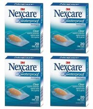 4 Pack - 3M Nexcare Waterproof Clear Bandages One Size 20 Each