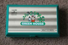 NINTENDO GAME AND WATCH GREEN HOUSE GH-54 1982 EXCELLENT WITH COVER FILM INTACT