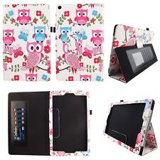 Whit Owl Buttefly Fit for Amazon Fire HD 10 10.1 Inch Tablet Case Cover ID Slots